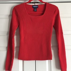 Forenza Red Pullover Ribbed Sweater Large ❤️❤️❤️